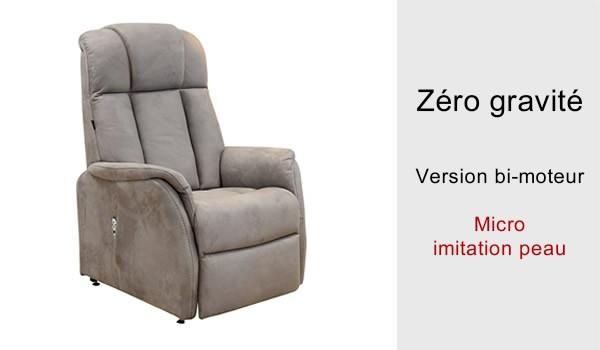 fauteuil releveur 2 moteurs electriques ZERO GRAVITE