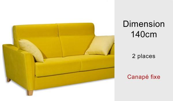 canapé fixe 2 places